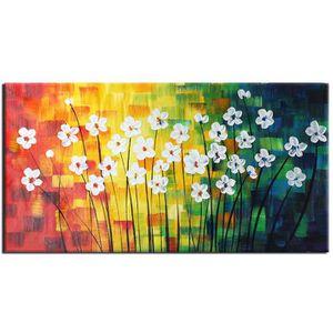 Tableaux sur toiles peinture a la main huile fleurs achat vente tableaux - Tableau peinture moderne pas cher ...