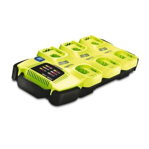 CHARGEUR MACHINE OUTIL RYOBI Chargeur One + 18 V 6 ports lithium Ion