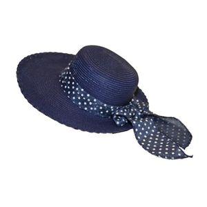 CHAPEAU - BOB Chapeau Capeline Femme Style Paille Pliable Ban...