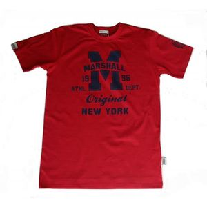 T-SHIRT Tee Shirt Marshall Enfant Rouge Taille 4 à 12 Ans