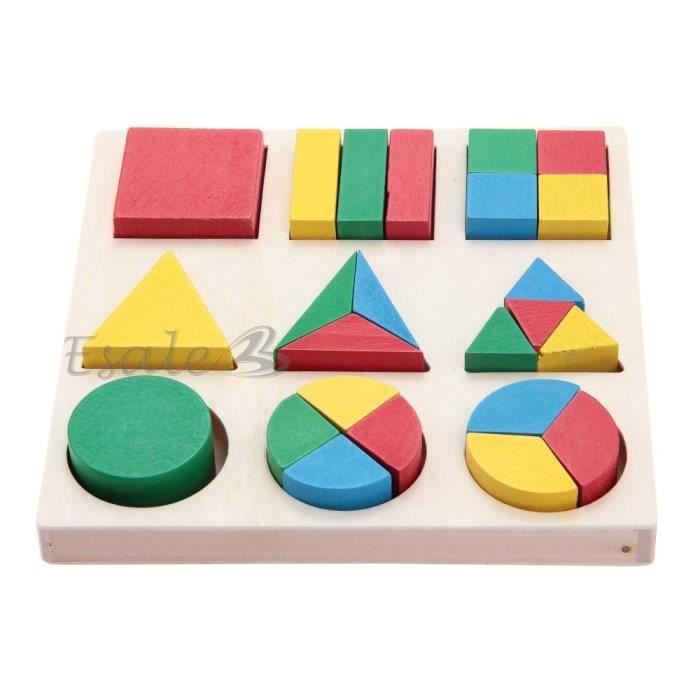 puzzle jouet eveil en bois 24 pi ces forme g om trique. Black Bedroom Furniture Sets. Home Design Ideas