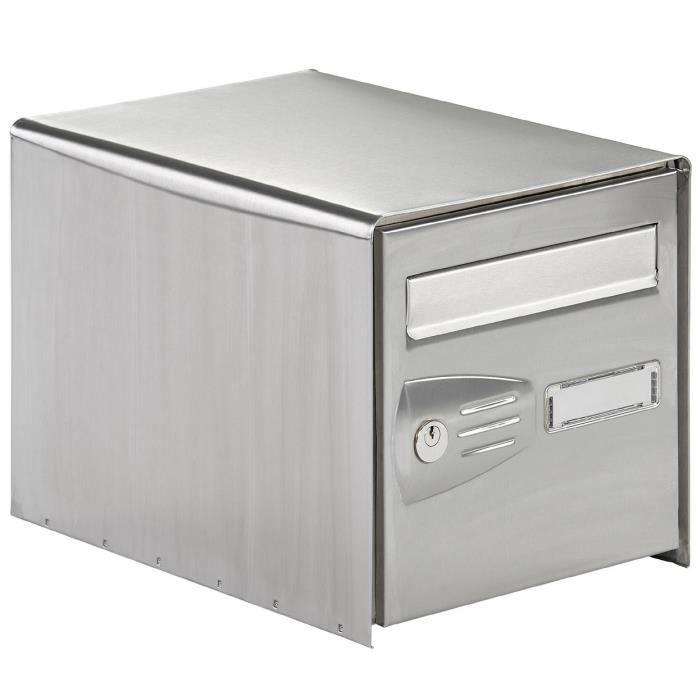 boite aux lettre inox achat vente boite aux lettre inox pas cher cdiscount. Black Bedroom Furniture Sets. Home Design Ideas