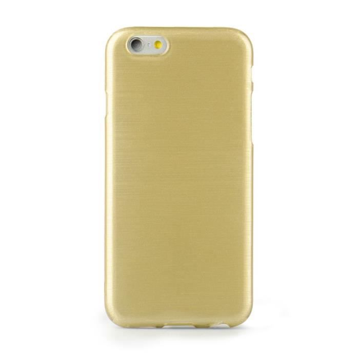 Jelly coque brush apple iphone 5 5s 5se gold achat for Housse iphone 5se