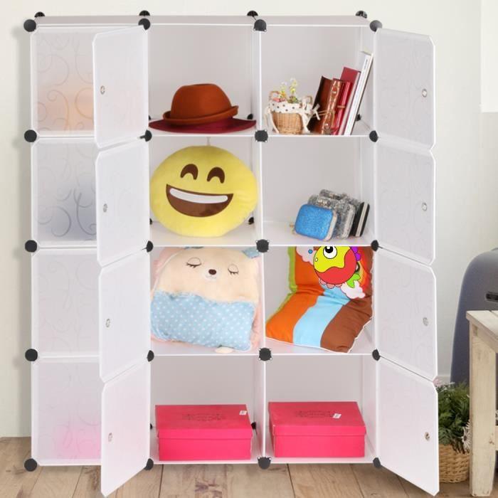 placard armoire de rangement organisateur 12 cubes organisation multifonctionnelle combinaison. Black Bedroom Furniture Sets. Home Design Ideas