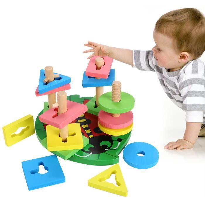 jouet en bois de g om trique en forme de trieur couleur bloc jouet ducatif de la petite enfance. Black Bedroom Furniture Sets. Home Design Ideas