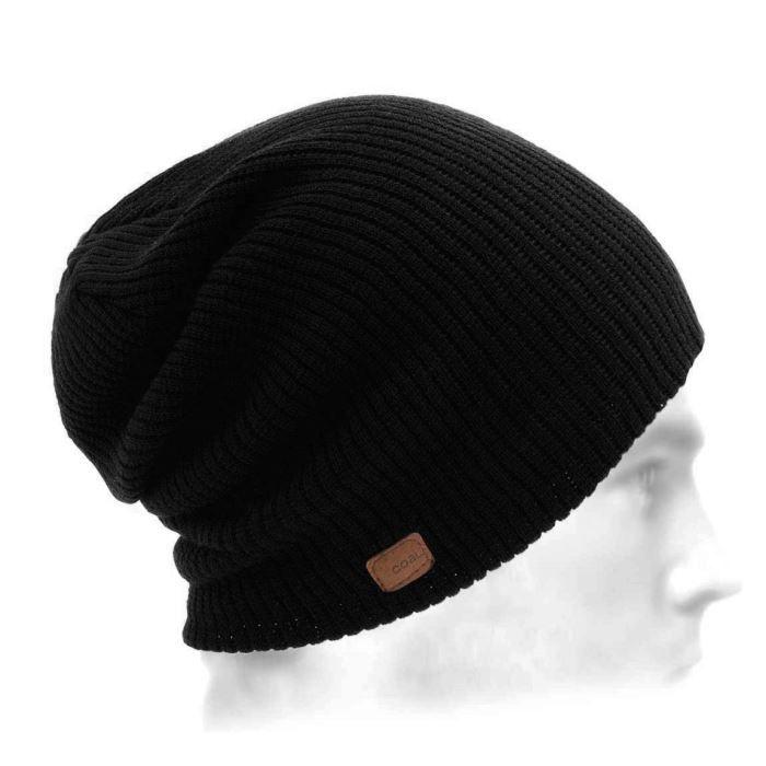 bonnet long homme the soma coal noir noir achat vente bonnet cagoule soldes d hiver. Black Bedroom Furniture Sets. Home Design Ideas