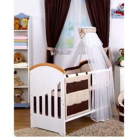 9 pcs de linge de lit b b ciel tour de lit drap beige. Black Bedroom Furniture Sets. Home Design Ideas