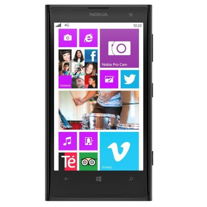 nokia lumia 1020 noir reconditionne a neuf achat. Black Bedroom Furniture Sets. Home Design Ideas