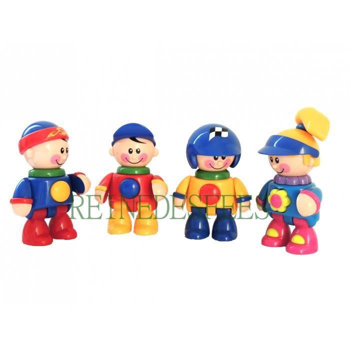 jouet 1er age jeu veil b b enfants lots 4 personnages tolo figurines fille gar ons id e cadeau. Black Bedroom Furniture Sets. Home Design Ideas