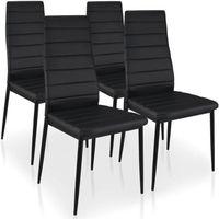 CHAISE Lot de 4 chaises Stratus Noir