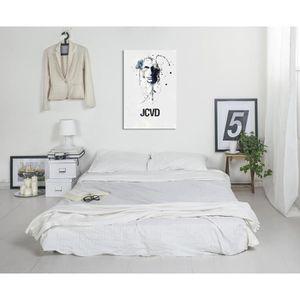 TABLEAU - TOILE Toile Imprimée Jean Claude Van Damme 90x 60cm Tabl
