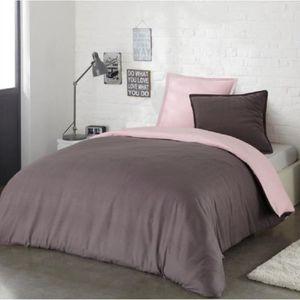 housse de couette rose 240x220 achat vente housse de. Black Bedroom Furniture Sets. Home Design Ideas