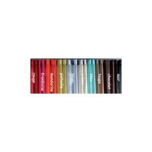 VOILAGE Voilages en Etamine Unie à Oeillets Noir 140 x 240