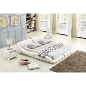 lit design 160x200 achat vente lit design 160x200 pas. Black Bedroom Furniture Sets. Home Design Ideas