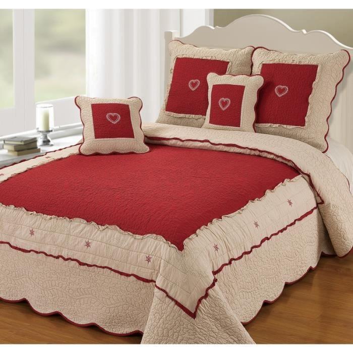 couvre lit boutis 2 places courchevel grande largeur courchevel rouge achat vente jet e de. Black Bedroom Furniture Sets. Home Design Ideas