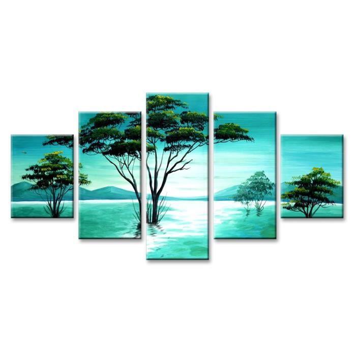 tableau moderne imprim 160x80 cm nature achat vente tableau toile toile bois cdiscount. Black Bedroom Furniture Sets. Home Design Ideas