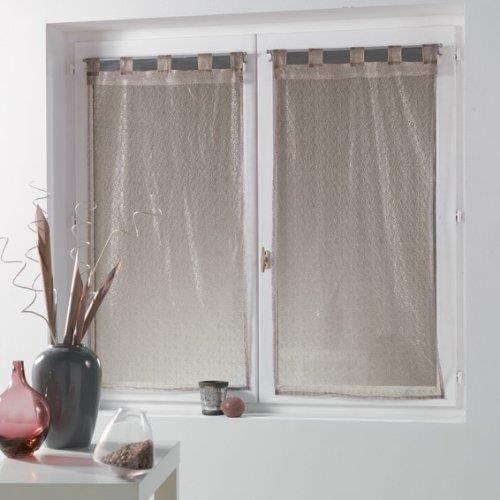 rideau voilage resille achat vente rideau voilage resille pas cher les soldes sur. Black Bedroom Furniture Sets. Home Design Ideas