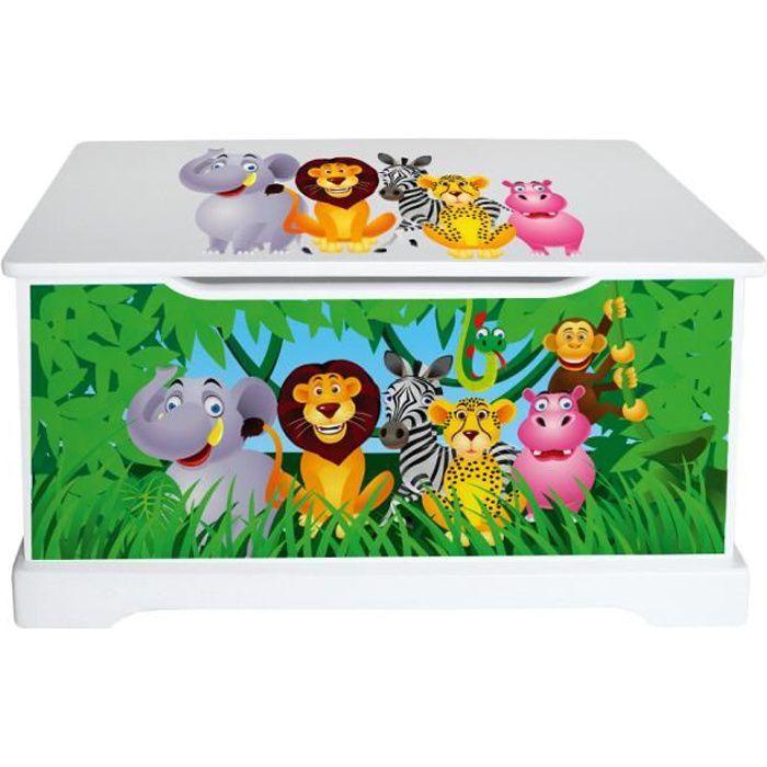 coffre jouets animaux de la jungle achat vente. Black Bedroom Furniture Sets. Home Design Ideas