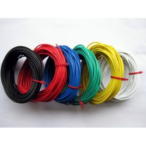 dx026 6x10m cable fil electrique 0 2mm2 1 5a 6couleur achat vente accessoire maquette. Black Bedroom Furniture Sets. Home Design Ideas
