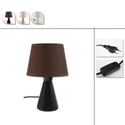 Lampe de chevet abat jour chocolat 28cm achat vente lampe de chevet choco - Lampe de chevet chocolat ...