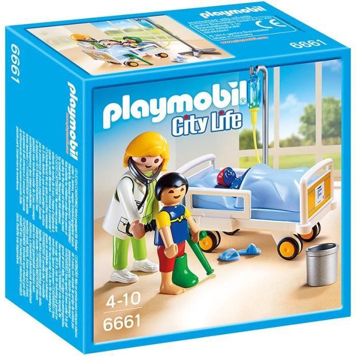 Playmobil 6661 chambre d 39 enfant avec m decin achat vente univers miniature cdiscount - Piscine moderne playmobil ...