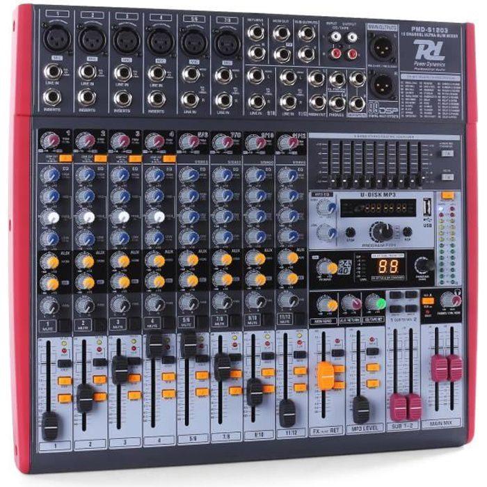 Power dynamics pdm s1203 table de mixage 12 pistes usb dsp - Table de mixage professionnelle studio ...