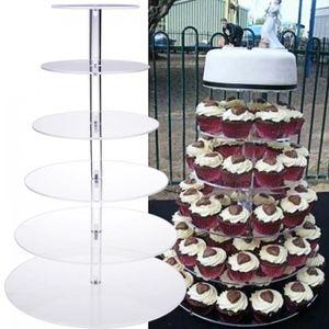 presentoir a pop cake 6 couche support prsentoir gteau acrylique ron - Location De Presentoir A Gateaux Pour Mariage