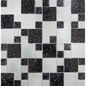 mosaique carrelage noir et blanc achat vente mosaique carrelage noir et blanc pas cher les. Black Bedroom Furniture Sets. Home Design Ideas