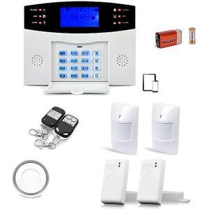 Alarme Maison Sans fil GSM , 99 zones Medium