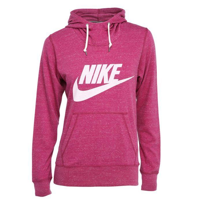 nike sweat gym vintage femme rose achat vente sweatshirt cadeaux de no l cdiscount