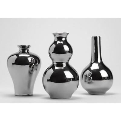 lot de 3 vases couleur chrom amadeus achat vente vase soliflore cdiscount. Black Bedroom Furniture Sets. Home Design Ideas