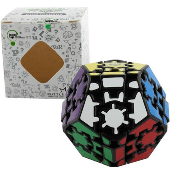 zhuopu gear dod ca dre rubik 39 s cube megaminx fond noir. Black Bedroom Furniture Sets. Home Design Ideas