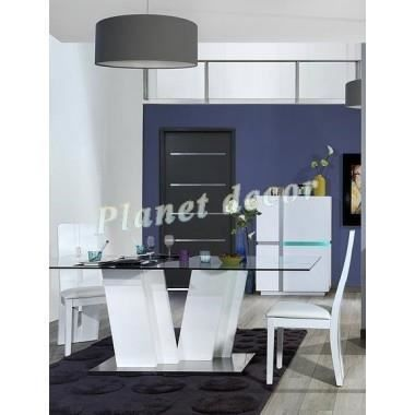 Table de salle manger rectangulaire design achat - Table de salle a manger haute ...