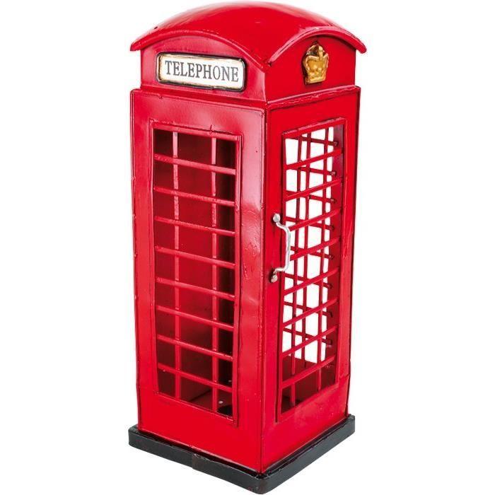 D co style vintage cabine t l phonique anglaise achat for Site deco anglais