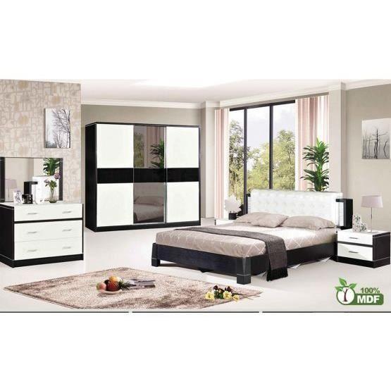 table de chevet doni noir et blanc achat vente chevet table de chevet doni noir e cdiscount. Black Bedroom Furniture Sets. Home Design Ideas