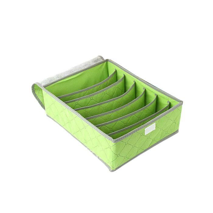 bo te de rangement 7 cellules sous v tements chaussettes cravates diviseur organisateur vert. Black Bedroom Furniture Sets. Home Design Ideas