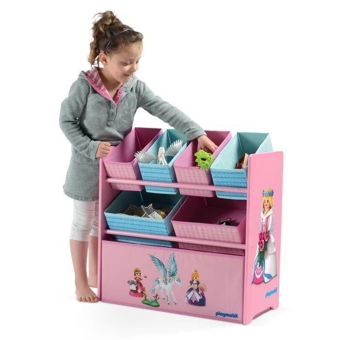 Playmobil etag re de rangement casiers princesses - Rangement pour playmobil ...