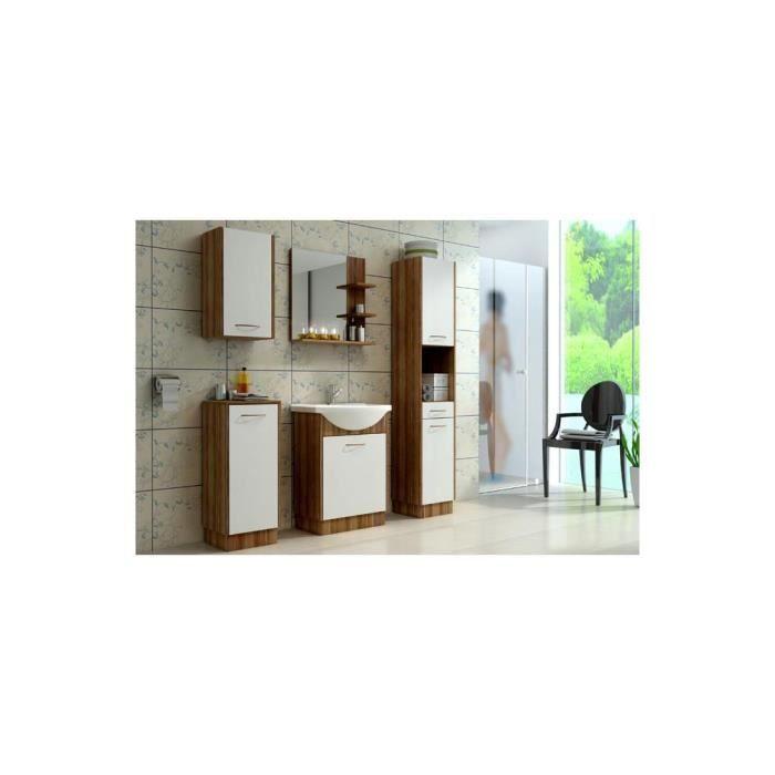 Justhome nency ensemble salle de bain 4 pi ces couleur for Ensemble salle de bain bois