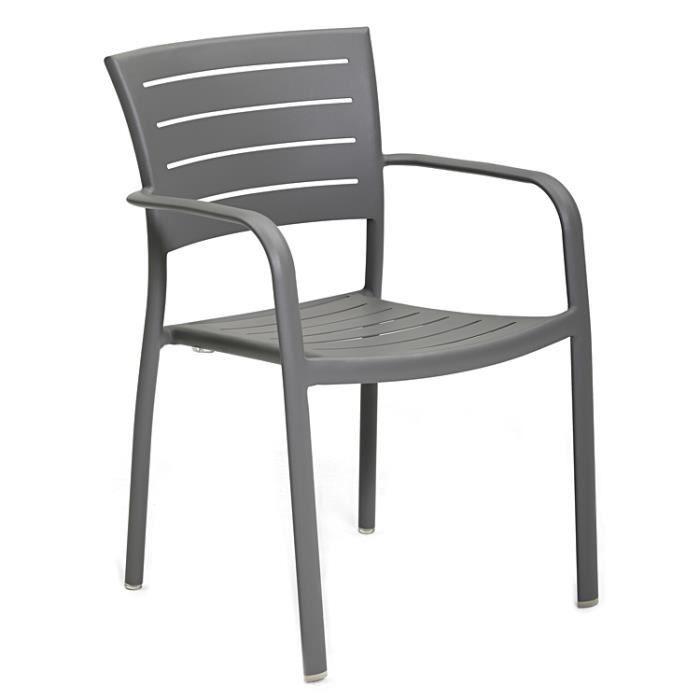 Lot de chaises avec accoudoirs en aluminium harvey achat for Lot chaise de jardin