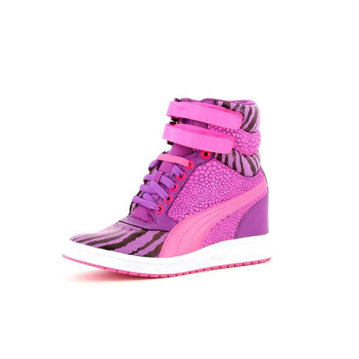 chaussures mode puma sky wedge a femme violet achat. Black Bedroom Furniture Sets. Home Design Ideas