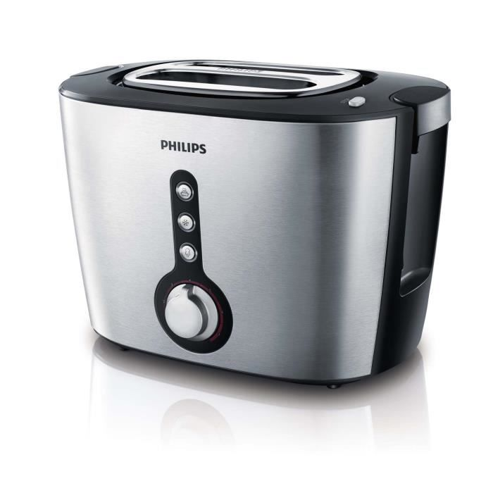 grille pain toaster philips achat vente pas cher cdiscount. Black Bedroom Furniture Sets. Home Design Ideas