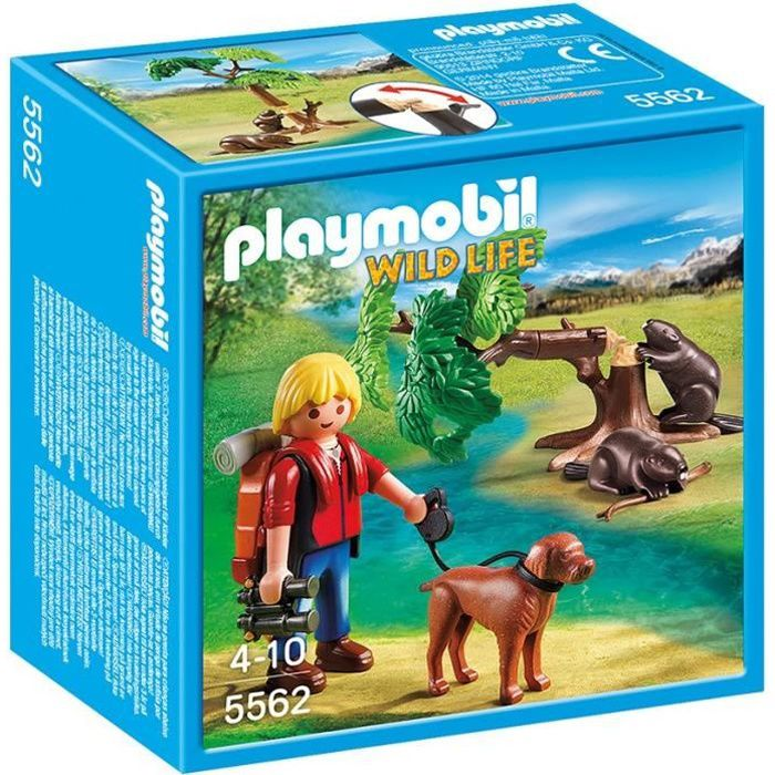 juniors jeux et jouets par type playmobil  randonneur avec castors f pla