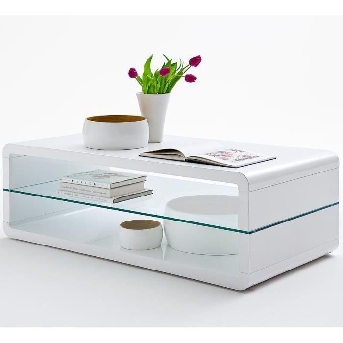 table basse blanche tag re verre table de lit. Black Bedroom Furniture Sets. Home Design Ideas