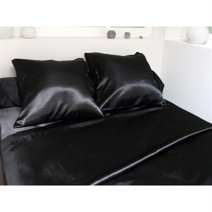 couvre lit en satin noir Couvre lit pas cher   les bons plans de Micromonde couvre lit en satin noir