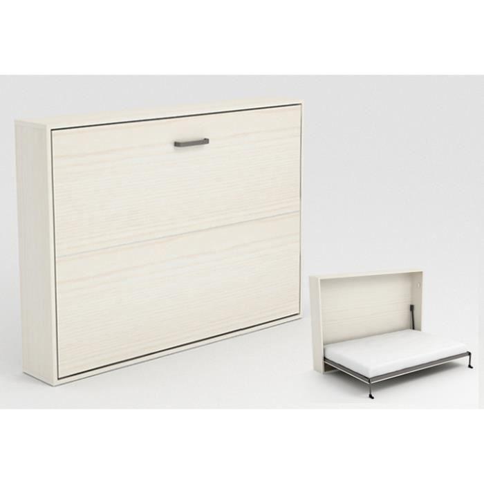armoire lit escamotable stone 140x200cm blanc achat vente lit escamotable armoire lit. Black Bedroom Furniture Sets. Home Design Ideas