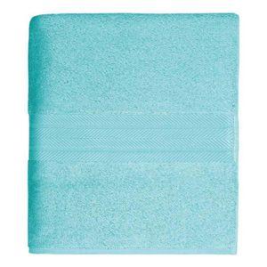 Drap de douche 70 x 140 cm en Coton couleur Ble…