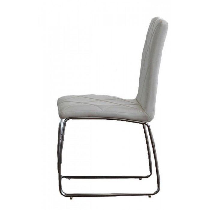 Chaise design kare couleur blanc mati re acier achat - Chaise design couleur ...