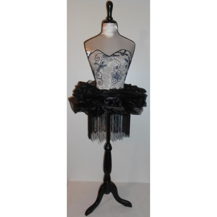 buste mannequin sur pied en bois corset et tutu achat. Black Bedroom Furniture Sets. Home Design Ideas