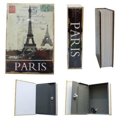 livre coffre fort paris achat vente boite de rangement cdiscount. Black Bedroom Furniture Sets. Home Design Ideas