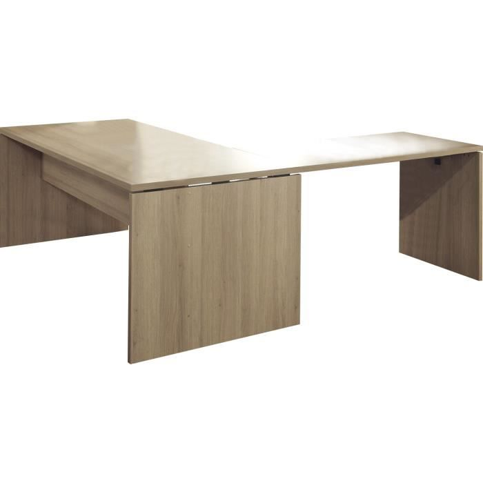bureau d 39 angle 200 cm coloris ch ne sable achat vente bureau bureau d 39 angle 200 cm color. Black Bedroom Furniture Sets. Home Design Ideas